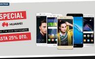 ¡Solo hasta el 13 descuentos de hasta el 25% en smartphones libres Huawei!