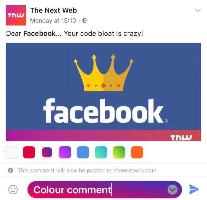 Facebook recibe nueva actualización enfocada en los comentarios