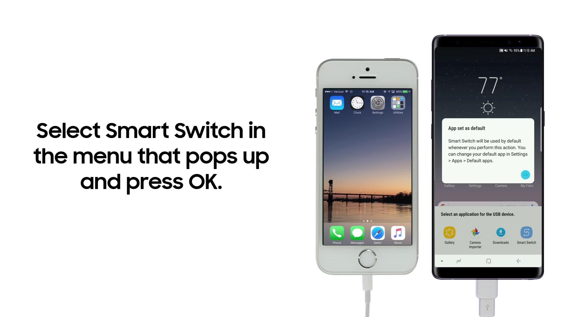 Cómo pasar todos los datos de un iPhone a un Samsung Galaxy Note8 en pocos segundos