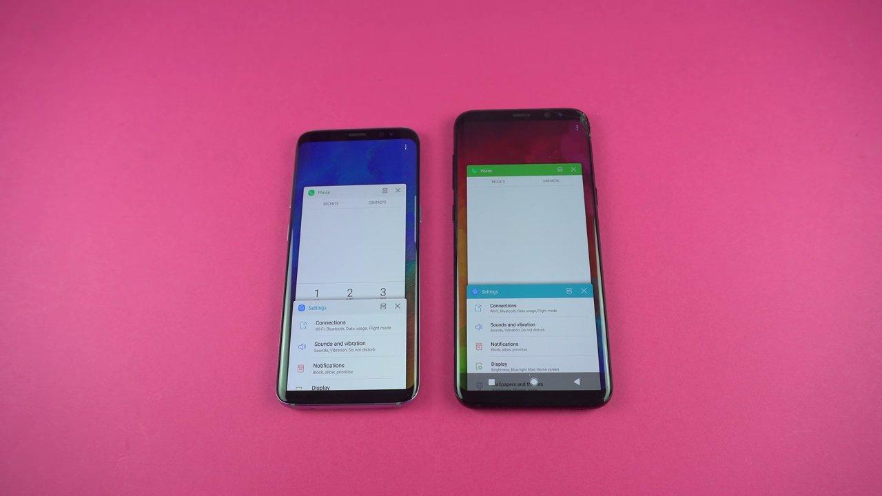 Aplicaciones ejecutadas en un Samsung Galaxy S8 con Android Oreo