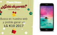 Participa en #XmasPhoneHouse y gana un LG K10 2017, ¡sorteamos 3!