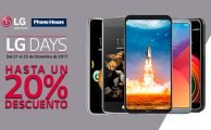 ¡Solo del 21 al 25 descuentos exclusivos online de hasta el 20% en smartphones LG!