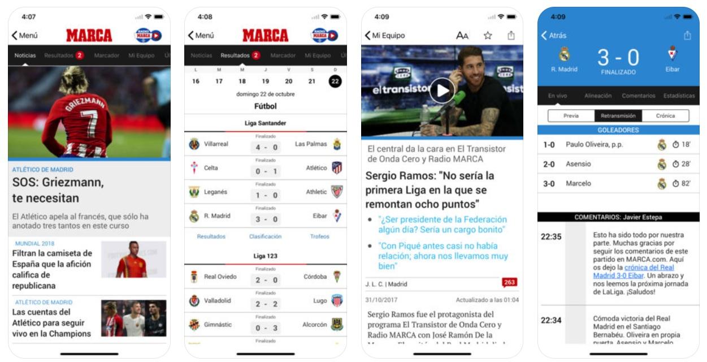 Apps fútbol