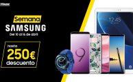 ¡Solo del 10 al 16 Semana Especial Samsung con descuentos de hasta 250€ en smartphones, tablets y wearables!