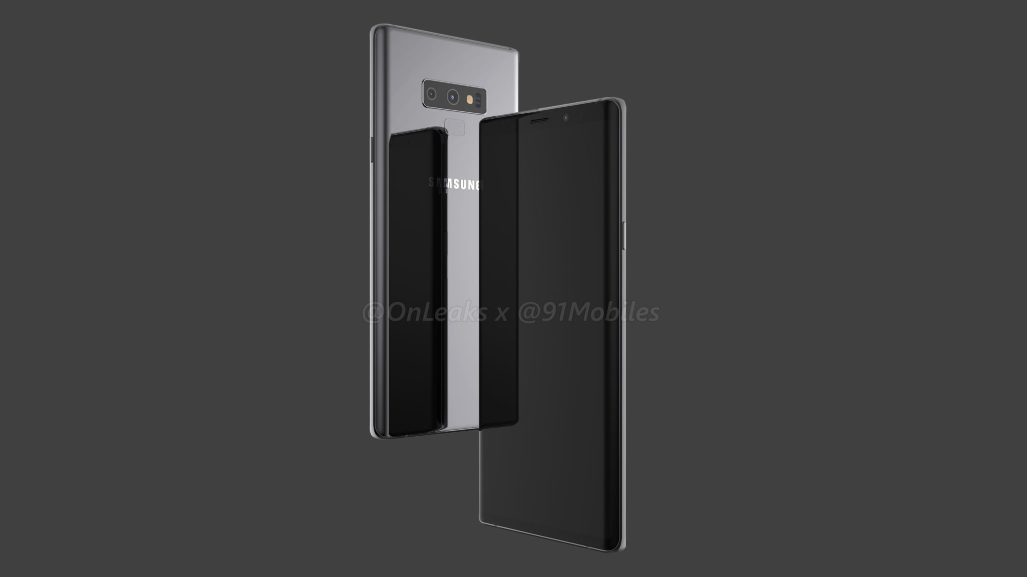 Renders del posible diseño del Galaxy Note 9