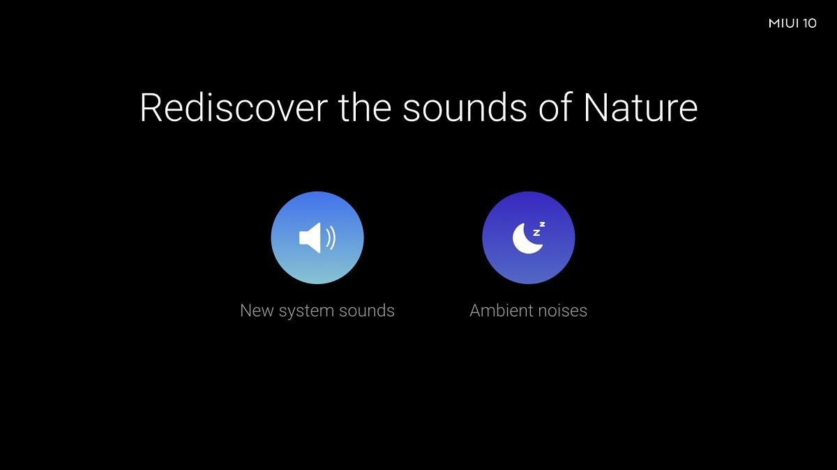Nuevos sonidos en MIUI 10