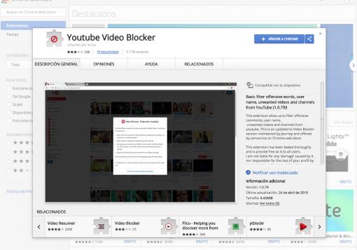 extension video blocker
