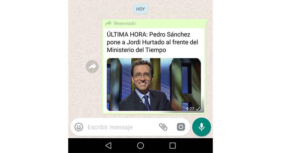 Mensaje reenviados WhatsApp