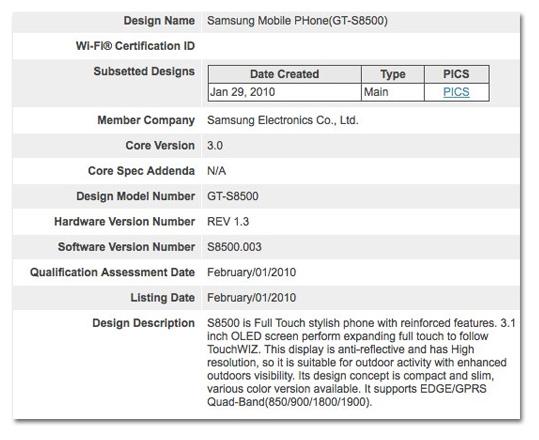 Samsung_S8500_info