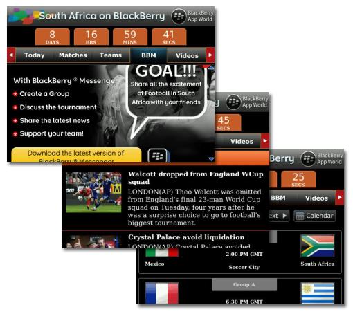 Otra aplicación para seguir el mundial en tu Blackberry