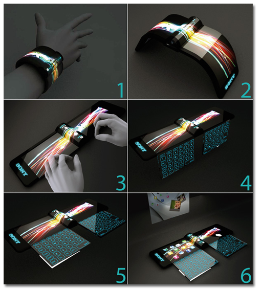En 2020 podríamos llevar móviles flexibles