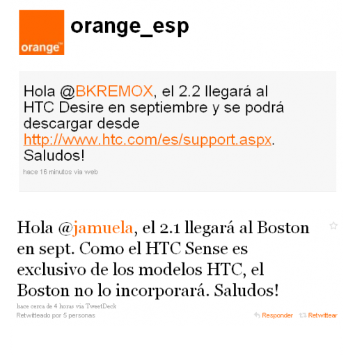 Android actualizacion orange