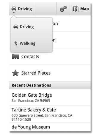 GoogleMaps Navigation caminar