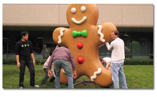 Gingerbread ya tiene su estatua en Mountain View