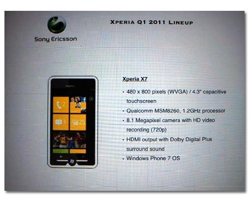 SOE X7 WPhone7