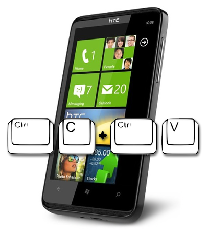 Windows Phone 7 copiapega