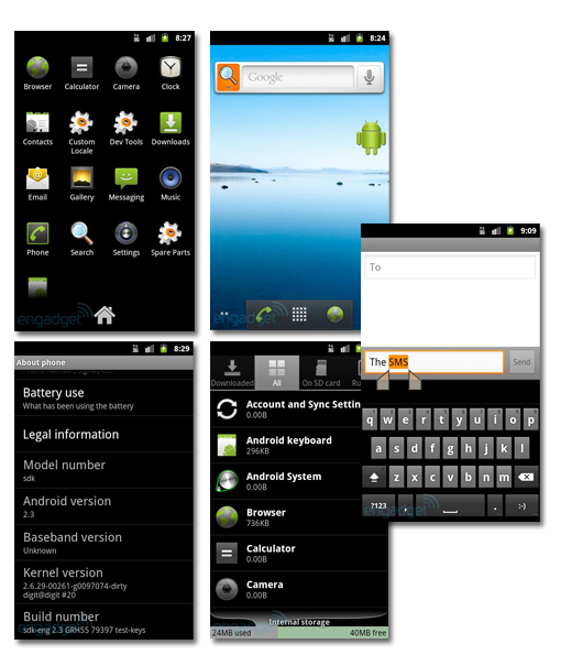 Android Gingerbread oficial