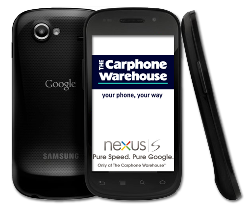 Google Nexus S carphone warehouse
