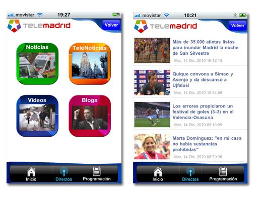 Telemadrid app