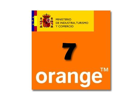 orange numeracion 7