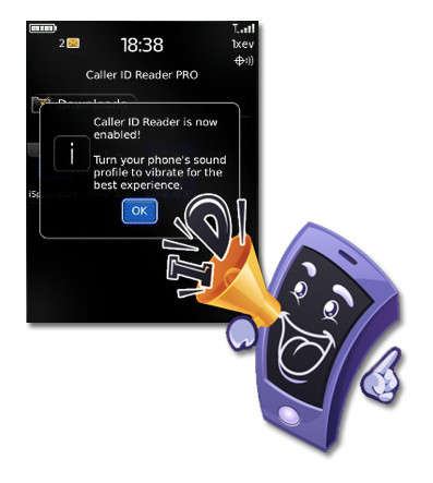 BB Caller ID Reader