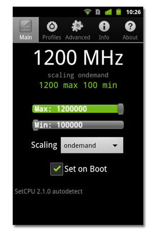 Google Nexus S overclocking