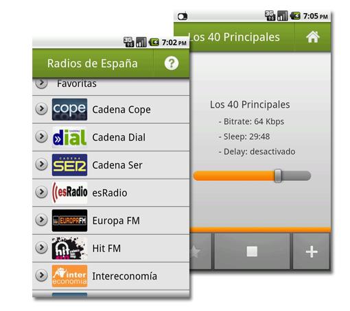 Radios de España. Escucha las principales emisoras en tu Android