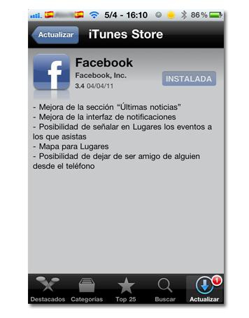 iphone facebook new