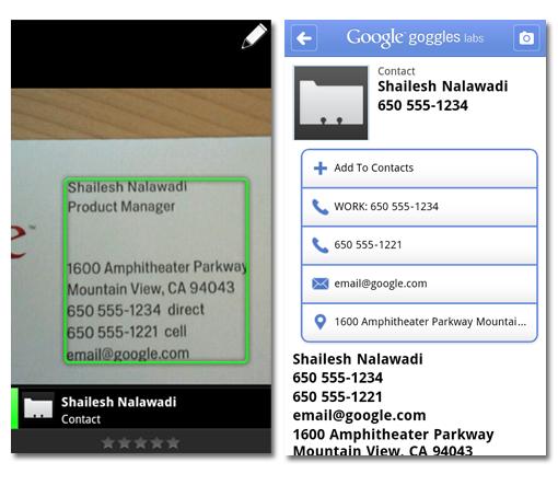 Google Goggles 1.4 para Android