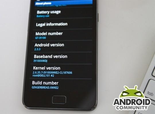 El Samsung Galaxy S II recibe su primera actualización