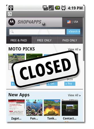 Motorola cierra su tienda de aplicaciones Shop4Apps en Latinoamérica