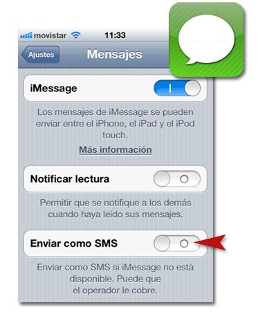 Truco iOS. Usa iMessage y que no te cobren un SMS