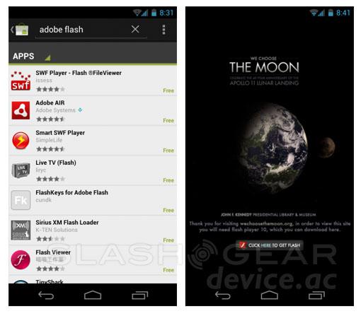 Android ICS no Flash