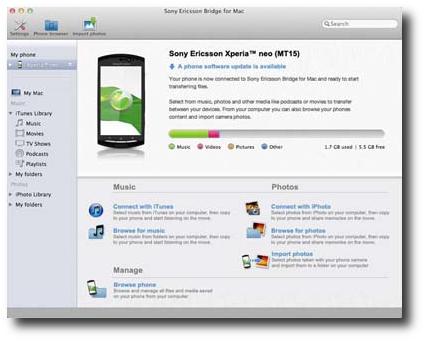 Sony Bridge 2.0 permitirá actualizar los Xperia desde Mac