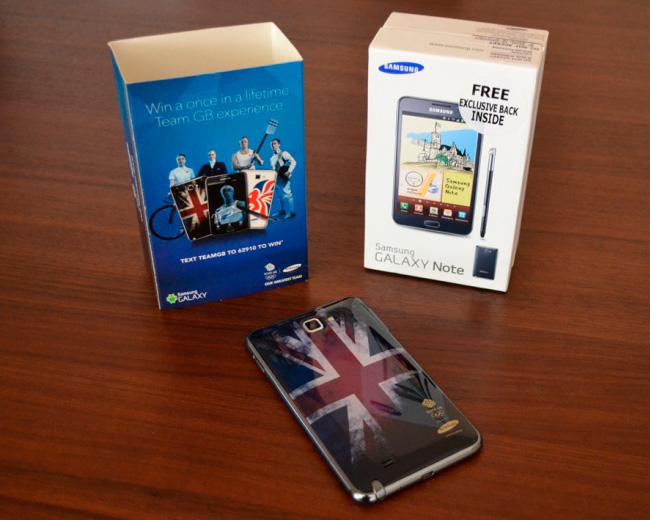 Samsung Galaxy Note y Galaxy Y Olimpic Edition