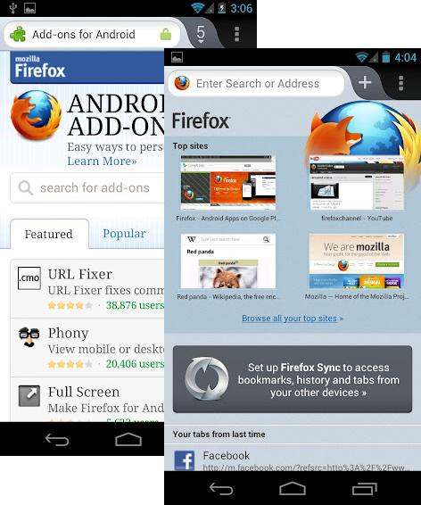 Firefox 15.0 aterriza en Android
