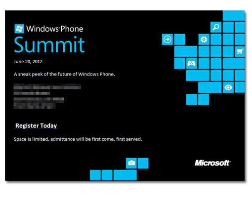 20 de junio. Conferencia de Microsoft sobre Windows Phone