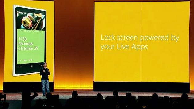 Windows Phone 8 con Live Apps en tu pantalla de bloqueo