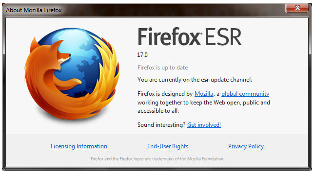 Firefox 17 para múltiples plataformas