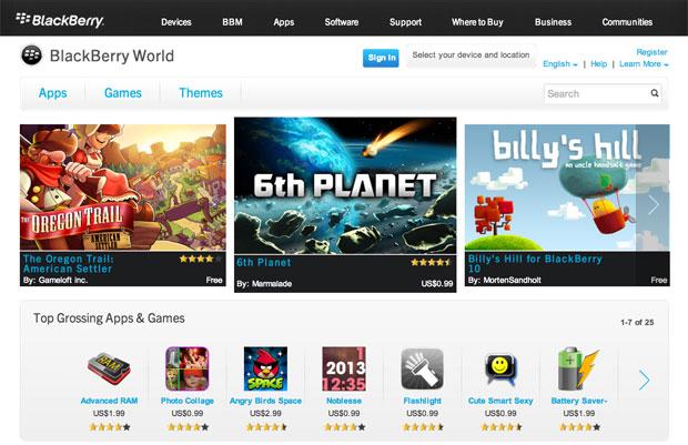 App World de Blackberry se actualiza
