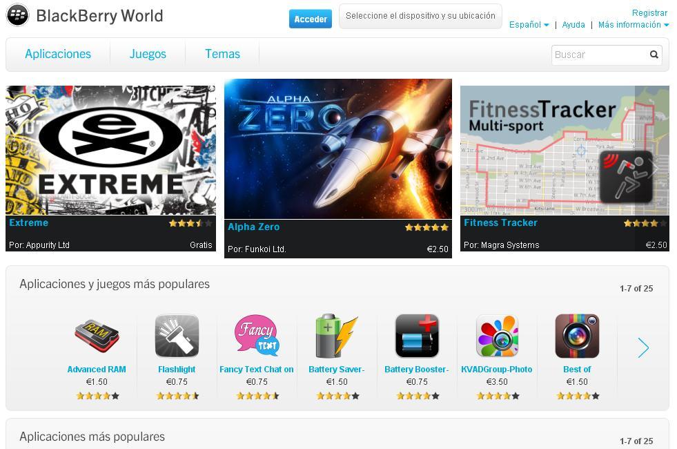 RIM bajará los precios de las aplicaciones de BlackBerry World