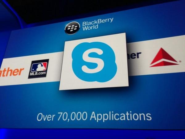 Skype ya disponible para Blackberry 10