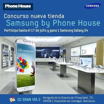 Visita nuestra nueva tienda Samsung by Phone House y gana un Galaxy S4