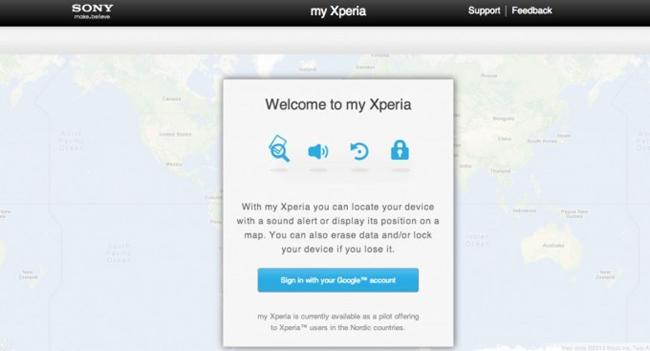 """¿Y si pierdes o te roban tu Sony? """"My Xperia"""", muy pronto"""
