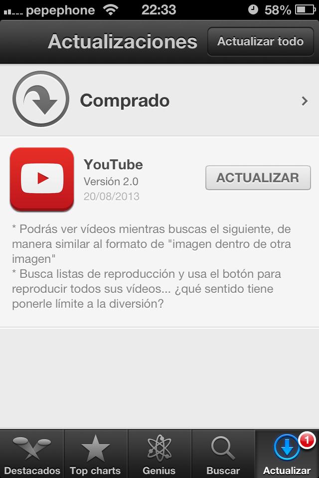 Youtube 2.0 ya para iOS