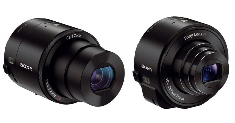 Las nuevas cámaras de Sony la QX10 y la QX100 para usar con nuestro smartphones