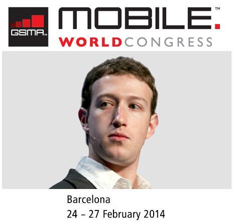 El creador de Facebook estará en el MWC 2014