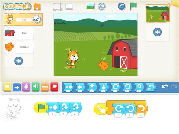 ScratchJR, una aplicación para programar en iOS desde los 5 años