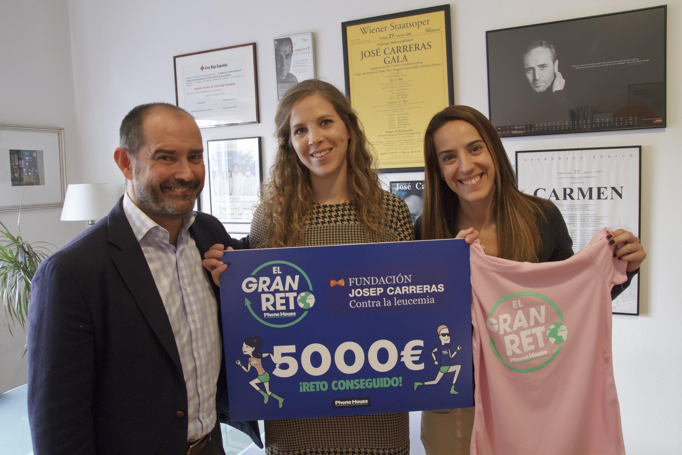 Phone House logra dar la vuelta al mundo para combatir la leucemia