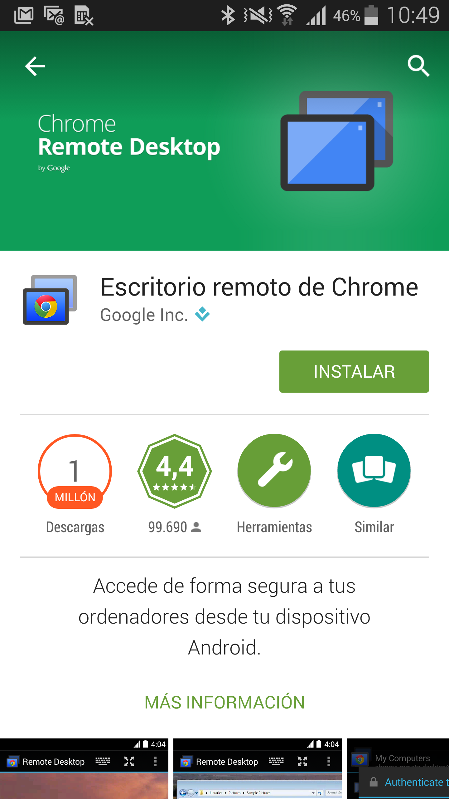 Accede al ordenador desde tu Android con Escritorio Remoto de Chrome